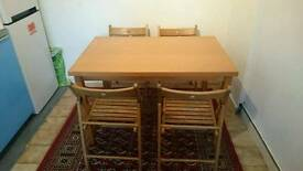 Dinning table and 4 foldable chairs £30