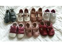 Baby Girl Shoes Size 3-4 Clarks/Next
