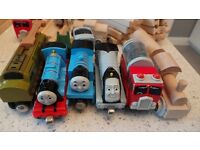 UGE Wooden Train Set Brio / Learning curve compatible - Trains Track Buildings