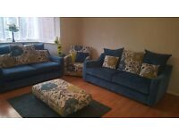 sofa set with stool (4 piece)