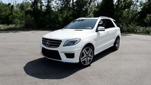 2013 Mercedes-Benz M-Class ML 63 AMG -- DESIGO PKG -- WHITE ON W