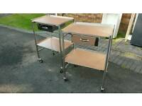 Stainless steel trolley x 2 (medical/storage/upcycling)