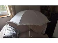 Large Ivory Bridal Umbrella