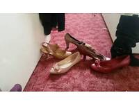 6 pairs of ladies kitten heels and boots
