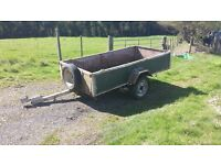 8x4 trailer with sprung suspension