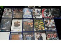 60+ playstation 2 games assorted