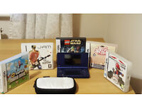 Nintendo DSI - Blue with 5 games and carry case