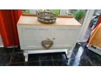 Large oak sideboard with stripped top and Annie Sloane Old White Fully Waxed for Protection