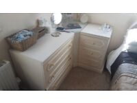 High quality solid Sharps Chest of drawers and 2 x matching bedside tables