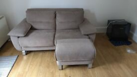 Very comfortable Sofa bed with foot stool