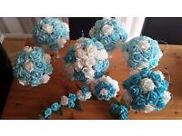 Wedding flowers made to order Brides Bouquet Bridesmaid Flower girl Buttonhole