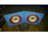 Amps and sub jl audio kenwood