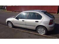 Rover 25. 2001. Spares or repair. Alloy wheels.
