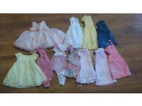 Large baby girl clothing bundle