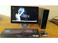 HP 8100 Elite Business PC Desktop Computer & HP Pavilion Widescreen 21