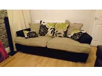 Large DFS 4 Seater fabric Sofa