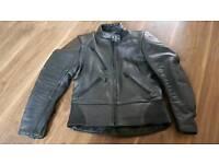 Womens SCOTT leather motorcycle bike jacket size 10