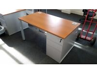 Office Desk with drawers and key 140x80x72 - Perfect Condition - Warrington