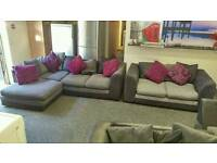 Corner sofa & 2 seater ( free delivery)