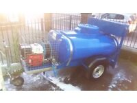 1000 Litre Site Tow Model Pressure Washer Bowser - Blue