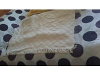 Extra Large heavyweight cotton thrown 2.4m x 2.2m