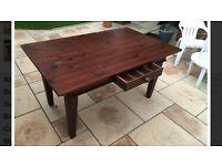 Dark wood dining table 'Pier'