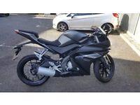 motorbike for sale, Yamaha YZF R125, Nearly new bike, road legal bike, first learner bike