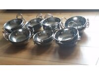 Crockery, Balti Dishes and Glassware. Discount if bought as a job lot.