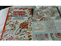 2 adult colouring books with Sudoku & Wordsearch