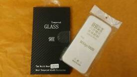 Samsung S6 edge glass protector and back cover