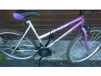 CHALLENGE LADIES MOUNTAIN BIKE, 19 INCH FRAME, 26 INCH WHEEL'S, 18 GEARS, GOOD CONDITION..