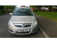 vauxhall zafira 1.6 petrol nice 7 seater family car with full service history