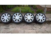 "Lowenhart 22"" alloy wheels & tyres"