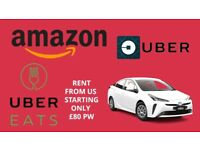 Car Hire Rent Amazon Uber eat Deliveroo Starting £80 other delivery private acceptable