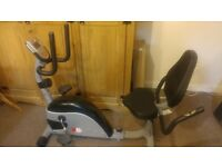 Barley used Recliner Exercise Bike