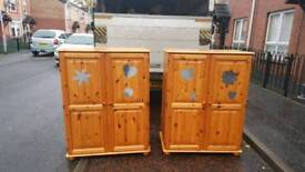 Soild pine childs wardrobe ONLY 1 left