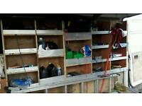 Van, gardening machinery and many tools for sale