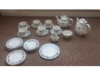Royal doulton burgundy coffee tea set Porcelain
