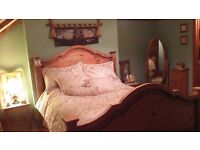 SOLID WOOD BEDROOM FURNITURE..GREAT CONDITION..SEE PICS AND FULL LIST...BARGAIN