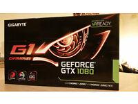 GTX 1080 Gigabyte G1 Gaming WindForce RGB *VR Ready