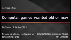 Wanted games consoles/games