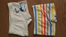 Baby boy 0-3 month swiming trunks bundle