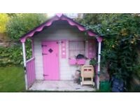 Wooden wendy playhouse