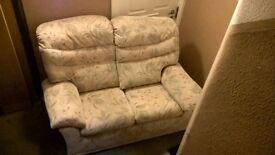 Free - two seater sofa LEITH textile beige, clean, no marks, smoke/pet free