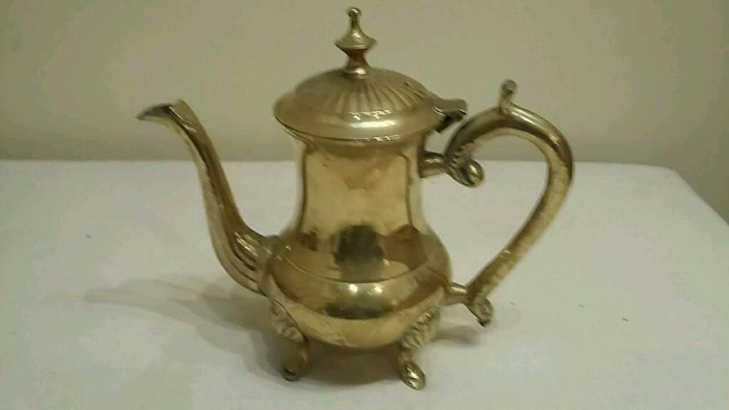 ornamental brass coffee pot