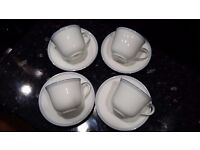 4 x Bone ChinaRoyal Doulton cups and saucers as new