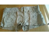 New Look linen shorts size 10