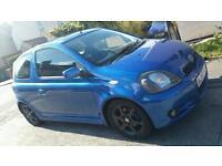 2002 Toyota Yaris t-sport 1.5vvti blue
