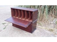 Vintage Pine Compartment Cupboards Cubby Holes x2 Ideal LP 12 IN Record Storage