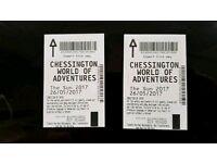 2 x Chessington Tickets 26/05/17